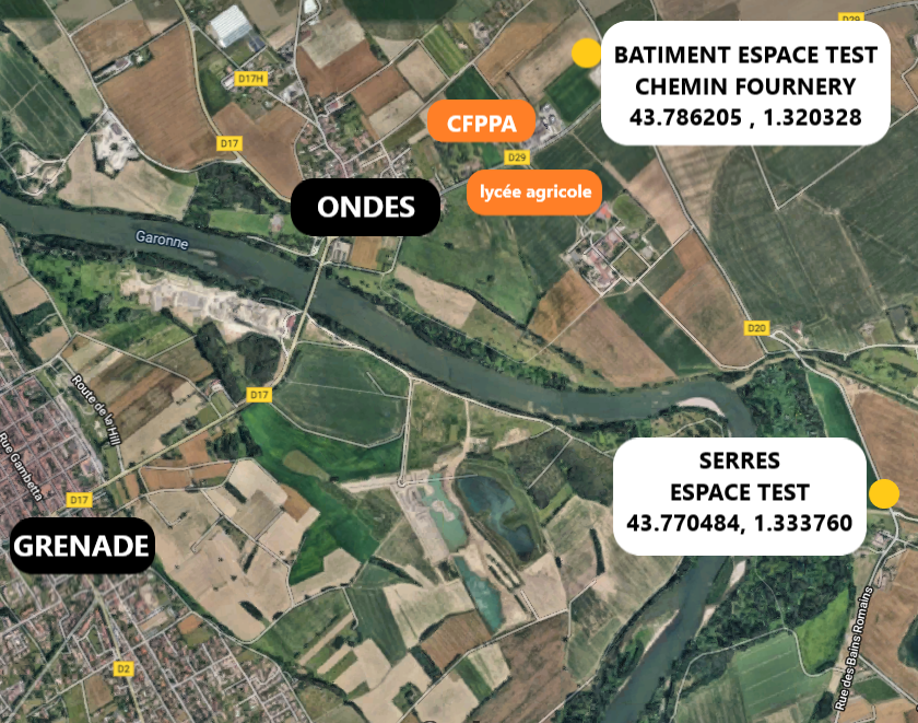 plan accès espace test